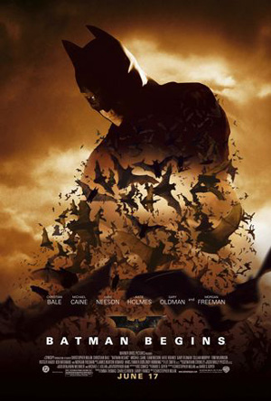 Batman begins movie poster analysis